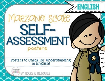 Marzano Levels of Understanding Posters {English} Blue & G