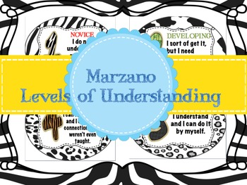 Marzano Levels of Understanding (Rating Scale)