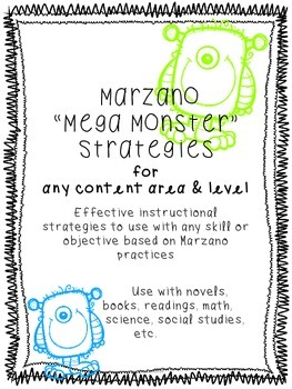 "Marzano ""Mega Monster"" Strategies for all Content Areas- R"