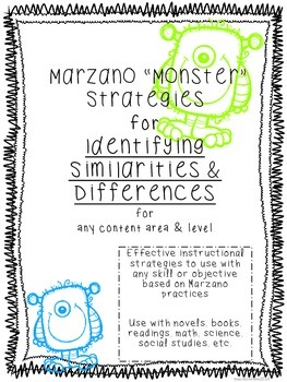 """Marzano """"Monster"""" Strategies for Similarities and Differen"""