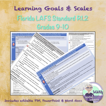 Marzano Scale for Florida LAFS Standard RI.910.1.2