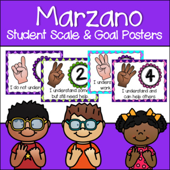Marzano Set of Learning Scale, Goal & Target Posters in Ar