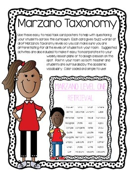 Marzano Taxonomy Posters and Ideas High Yield Strategies a