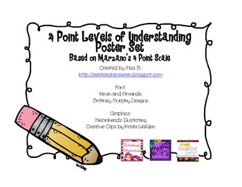 4 Levels of Understanding Poster Set