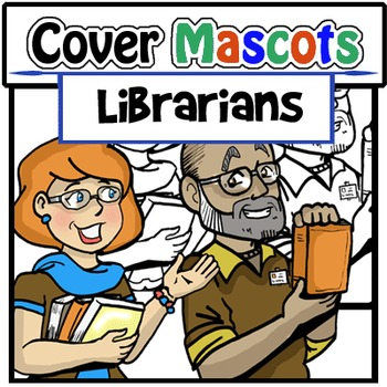 Mascots-Librarians: 4 pc. Clip-Art Set (BW and Color!)