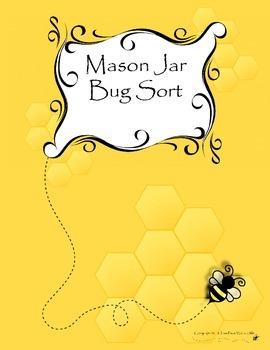 Mason Jar Bug Sorting Activity