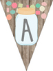 Mason Jar Classroom Theme Birthday Banner and Months