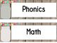 Mason Jar Classroom Theme Daily Schedule Cards