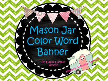 Mason Jar Color Word Banner