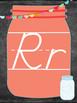 Mason Jar Theme Alphabet Posters (D'Nealian)
