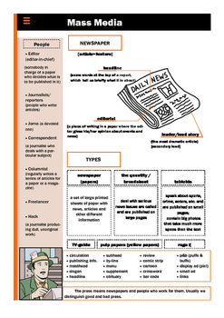 Mass Media - Newspaper Vocabulary