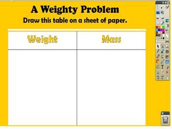 ActivInspire Mass Versus Weight Review