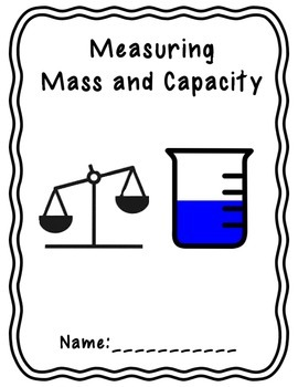 Mass and Capacity Workbook Title Page