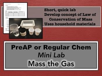 Mass the Gas Mini Lab