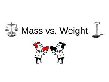 Mass vs Weight Comparison Powerpoint