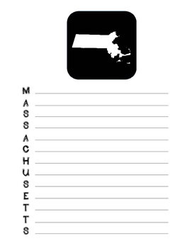 Massachusetts State Acrostic Poem Template, Project, Activ