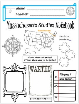 Massachusetts Notebook Cover