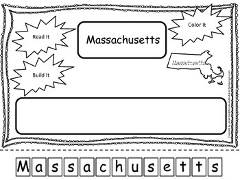 Massachusetts Read it, Build it, Color it Learn the States