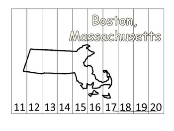 Massachusetts State Capitol Number Sequence Puzzle 11-20.