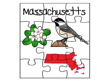 Massachusetts State Facts Puzzle Set