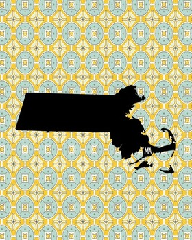 FREEBIE! Massachusetts Vintage State Map or Poster Class D