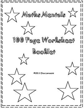Massive 100 Page Maths Worksheet Booklet