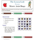 Master Artist Art Bingo