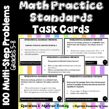 Math Practice Standards Task Cards