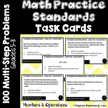 Math Practice Standards Task Cards