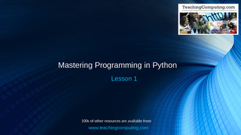 Mastering Python Lesson 1