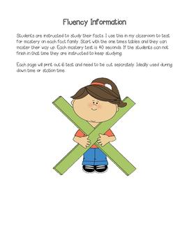 Mastery Multiplication Fluency Assessments