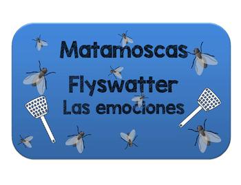 Matamoscas adjetivos de emoción. Flyswatter to review adje