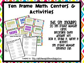 Ten Frames 1-20 Math Center