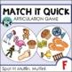 Speech Therapy: Match It Quick Savings Bundle - Early Elem