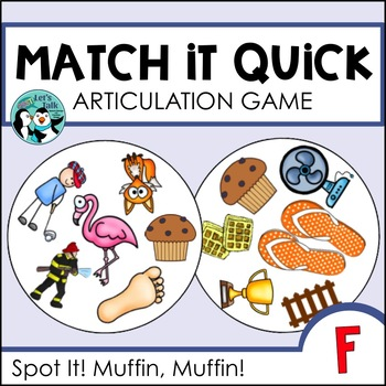 Match It Quick - /f/ Articulation Game for Speech Therapy