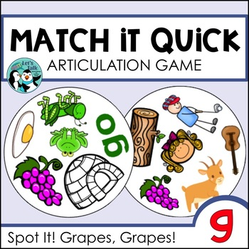Match It Quick - /g/ Articulation Game for Speech Therapy