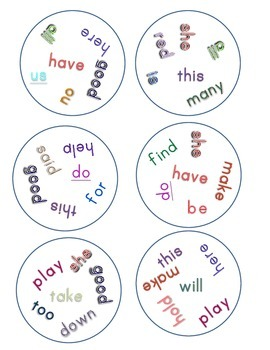 Match It! Read It! Journeys 2012 Common Core Sight Words U