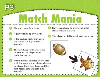 Match Mania (Common Core RF 1.2C)