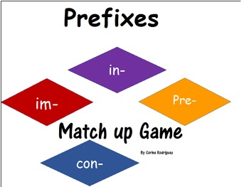 Match Up Game (in-, im-,pre-, co-)