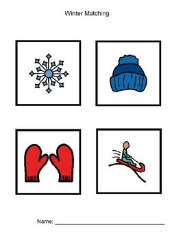 Match Winter Pictures Worksheet