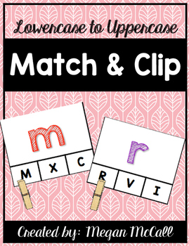 Match and Clip-Lowercase to Uppercase Letter Matching