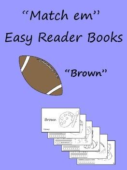 """""""Match em"""" Easy Reader: Brown"""