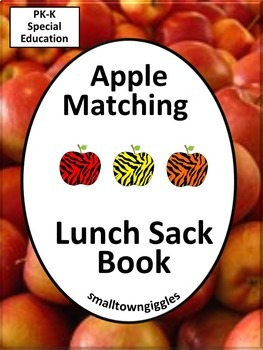 Apple Matching Lunch Sack Book