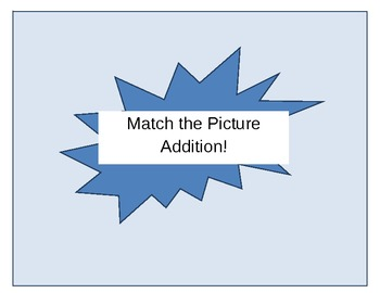 Match the Picture- Addition