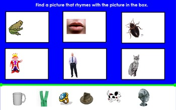 Match the Rhyming Pictures Flipchart for ActivInspire