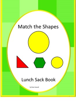 Shapes Lunch Sack Book