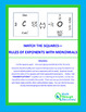 Match the Squares  Puzzle  - Rule of Exponents with Monomials