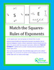 Match the Squares Puzzle - Rules for Exponents