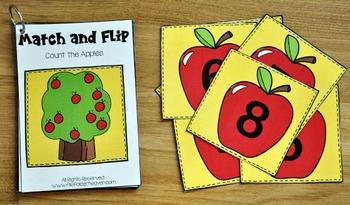 Matching Activities:  Apples Match and Flip Books 2