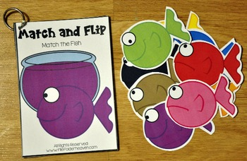 Matching Activities:  Fish Match and Flip Books